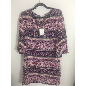 Beachlunchlounge Purple new paisley dress medium